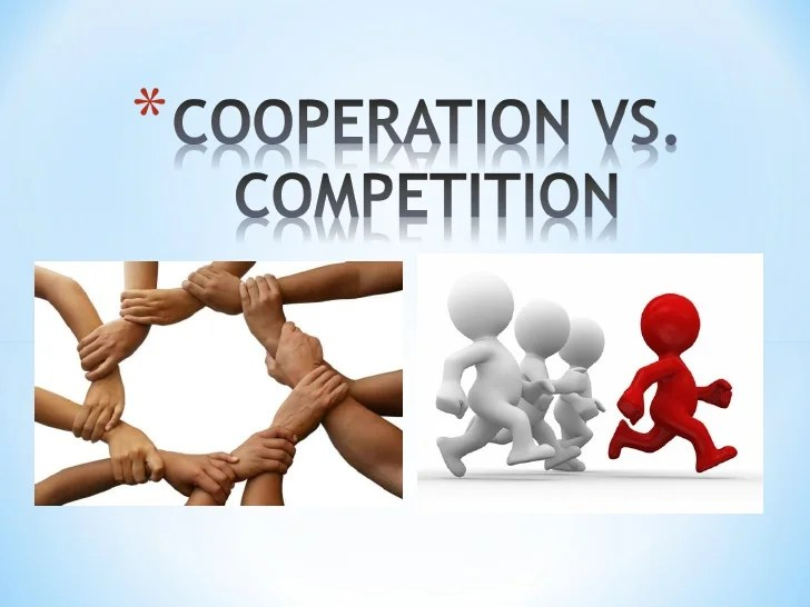 competition vs cooperation essay Evolution favors cooperation over competition  nice essay, and thanks for  i will be careful in the future to be clear about dawkin's own view vs that of.