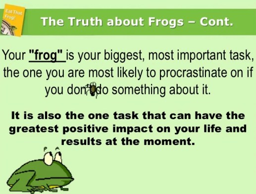 Tip 5: Eat the Frog: Morning Routines that Will Change Your Life and Business.