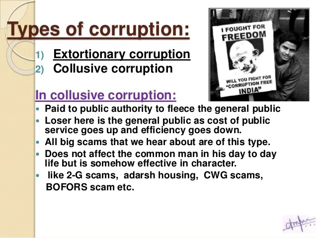 Removal of Extortionary Corruption