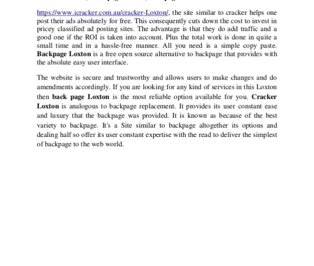 Cracker Loxton Sites Like Backpage Cracker Loxton Back Page Loxton Backpage Loxton Https