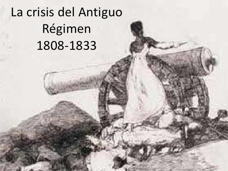 Resultado de imagen de La crisis del antiguo Régimen en España
