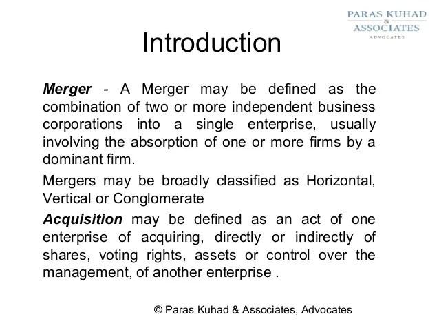 Mergers Recent Vertical
