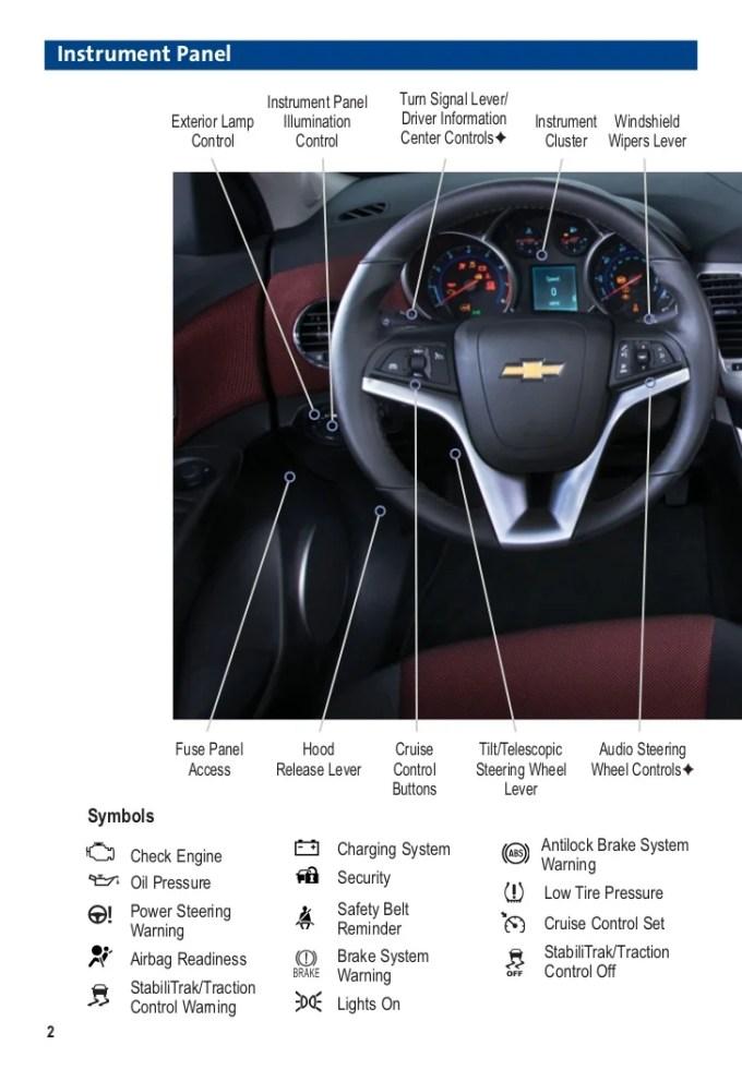 2012 chevy cruze dash lights | Chevrolet Cruze Warning