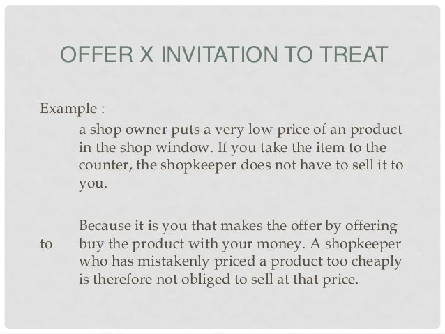 Explain the difference between offer and invitation to treat with invitation to offer definition invitationswedd org stopboris Choice Image
