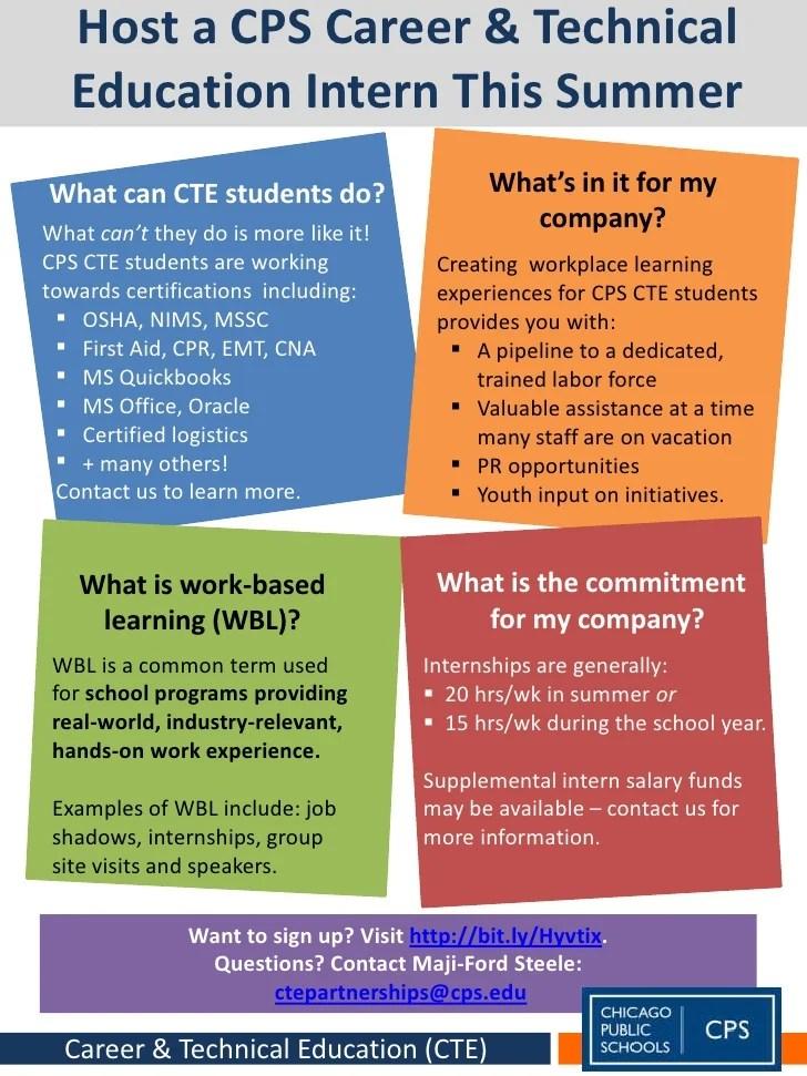 CTE Internships Flyer