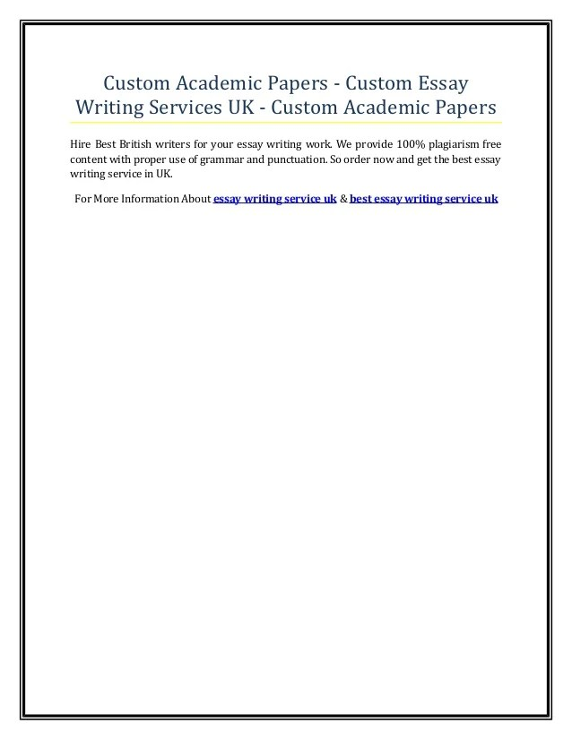 Why Use Our Custom Essay Writing Service