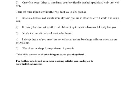 Cute Things To Say Your Boyfriend You Love Him Instagram What Are Some