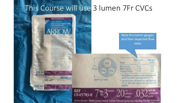 arrow triple lumen catheter