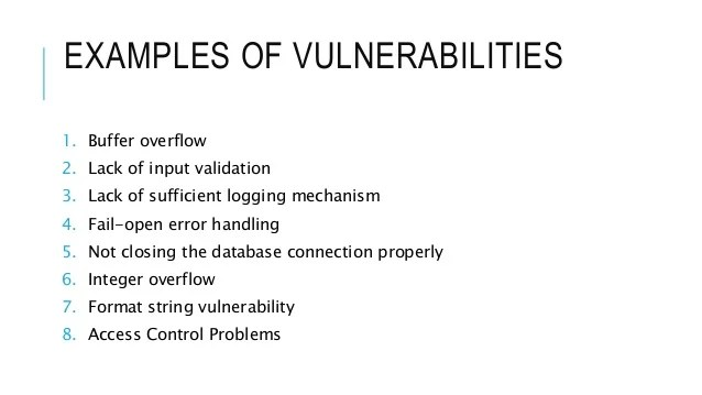 Database Security Vulnerability