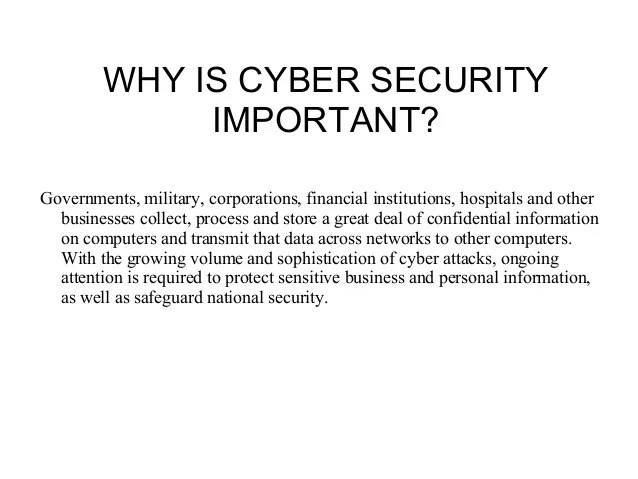 Why Financial Important Security