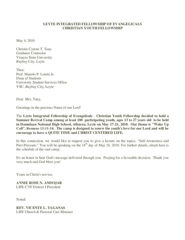 Church Revival Invitation Letter Ownerletter Co
