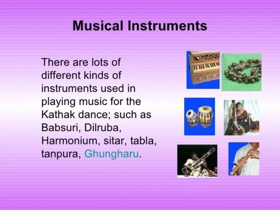 Kathak Dance - Instruments