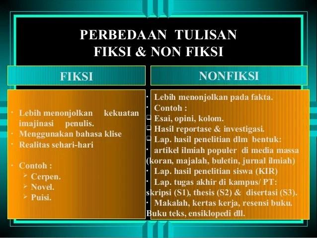 Contoh Kalimat Fiksi Dan Nonfiksi Download Gambar Online