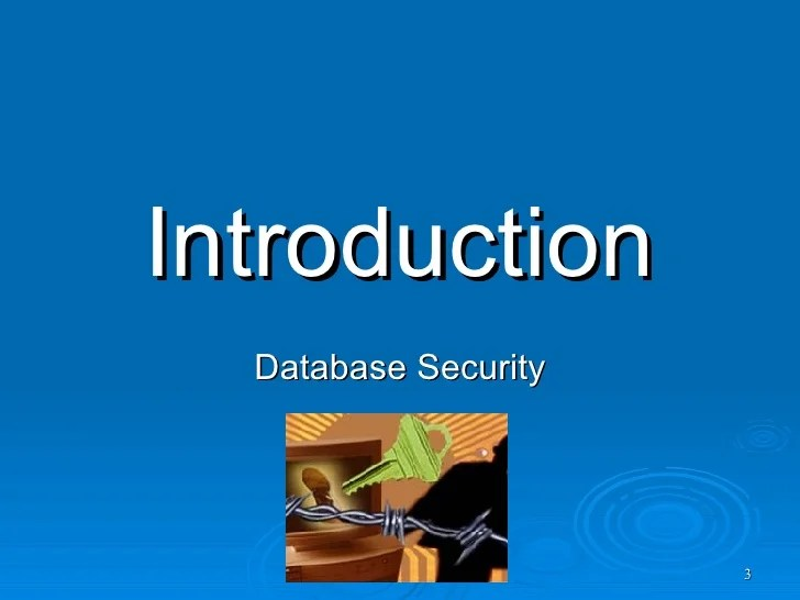 Database Security Review