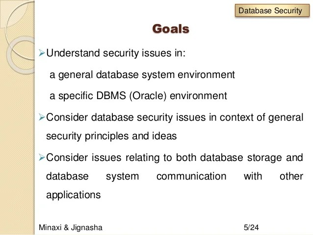 Database Security And Authorization Dbms