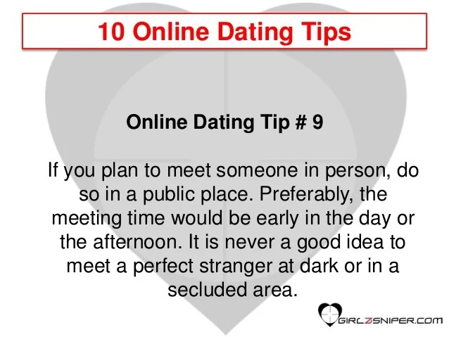 Dating tips for men - 10 online dating tips