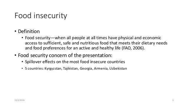 Financial Insecurity Definition