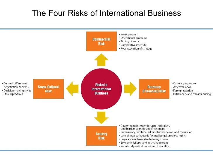 Dealing with risks in internationa business