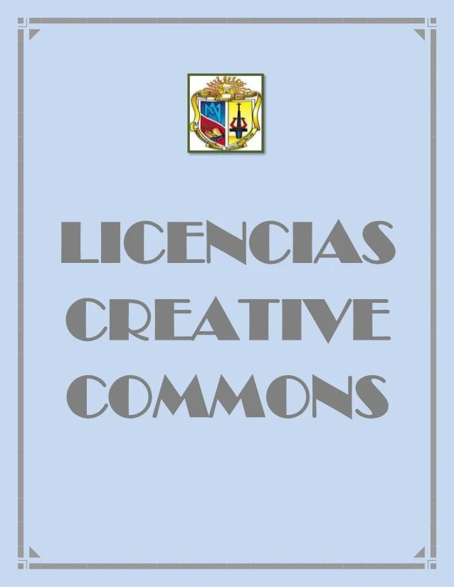 Definición de licencias creative commons