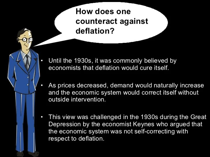 Image result for Deflation leads to Depression under Keynesianism