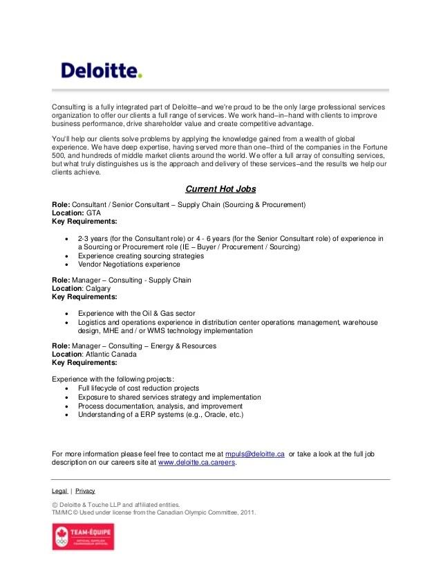 Deloitte Canada Strategy Amp Operations Hot Jobs