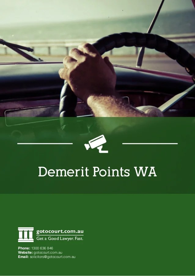 Demerit Points In Western Australia