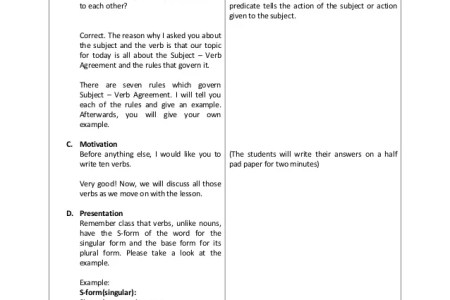 Best Detailed Lesson Plan About Verbs For Grade 2 Image Collection