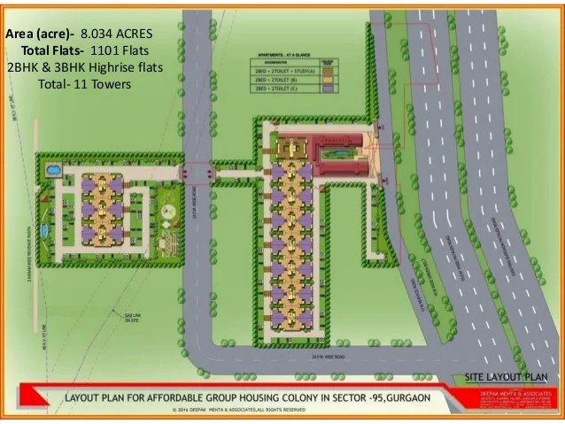 Area (acre)- 8.034 ACRES Total Flats- 1101 Flats 2BHK & 3BHK Highrise flats Total- 11 Towers