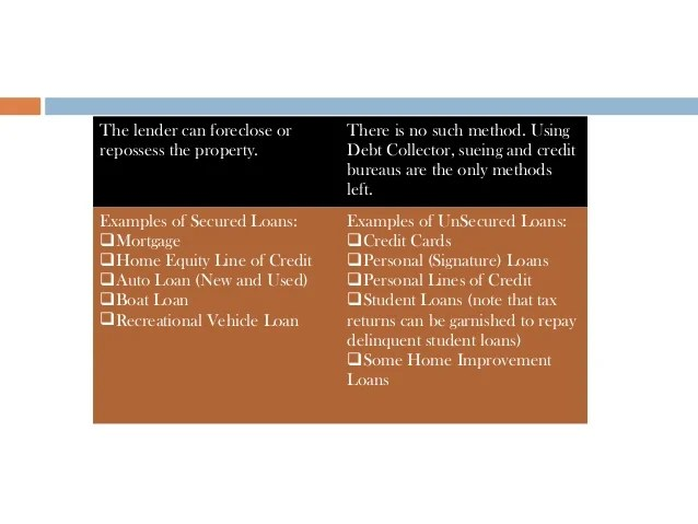 Interest rates on lines of credit fluctuate as you spend, because you are raising the lines of credit, while much more flexible than loans, can be risky. Differences between secured and unsecured loans