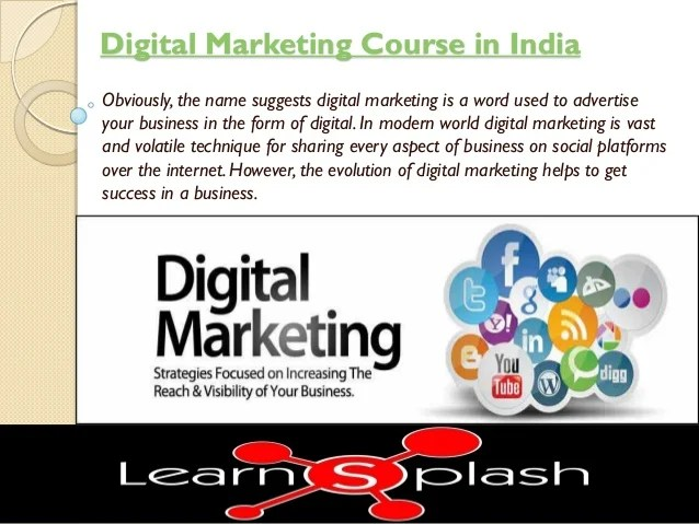 Of degree students, and more. Digital Marketing Course in India