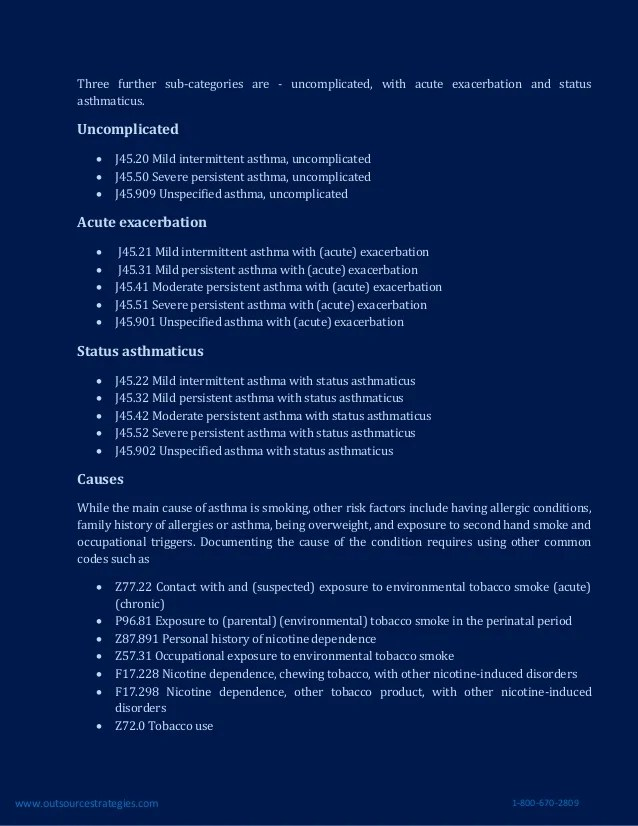 Documenting and Coding Asthma in ICD-10