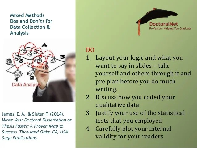 Do's and don'ts of qualiltative, quantitative and mixed ...
