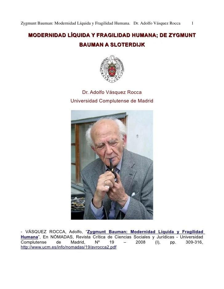 vídeo 2.0 Filosofia Zygmunt Bauman Por Adolfo Vásquez Rocca en canal observaciones filosoficas
