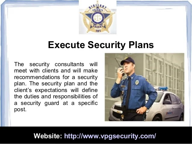 Definition Security Guard Duties