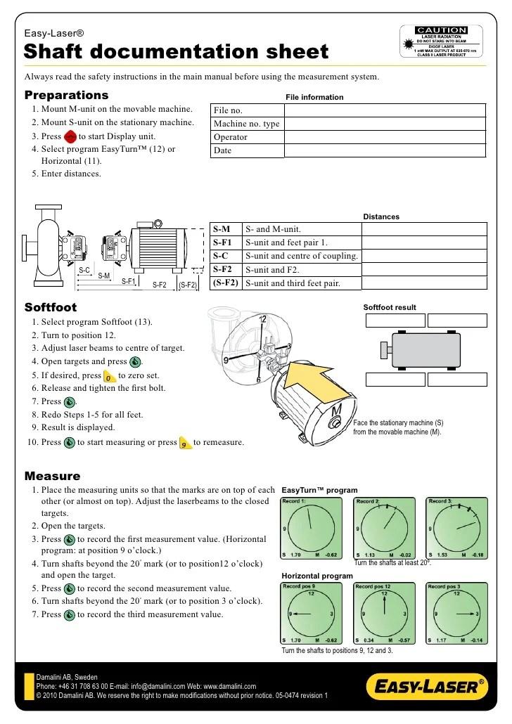Easy Laser Shaft Alignment Worksheet