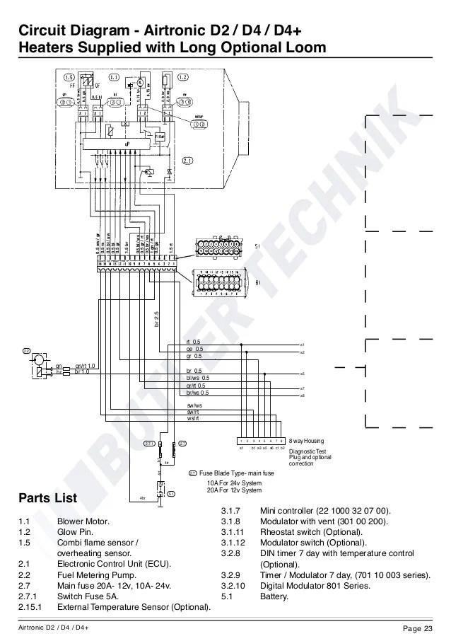 Eberspacher Airtronic D2 Wiring Diagram  Somurich