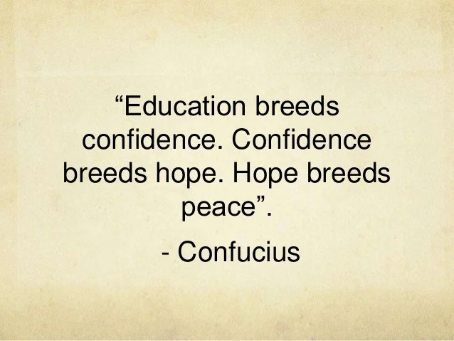 Image result for education breeds confidence quotes