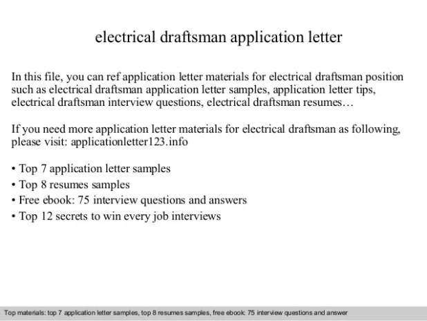 draftsman cover letter | Thedoctsite.co