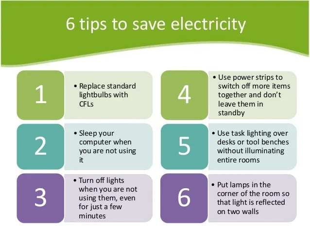 Perfect Switch Of Un Necessory Bulbs And Fans: It Is Very Common Way To Save  Energy. Make It Your Habit, When Ever You Leave Your Room, Switch Of Fan  And Bulbs And ...