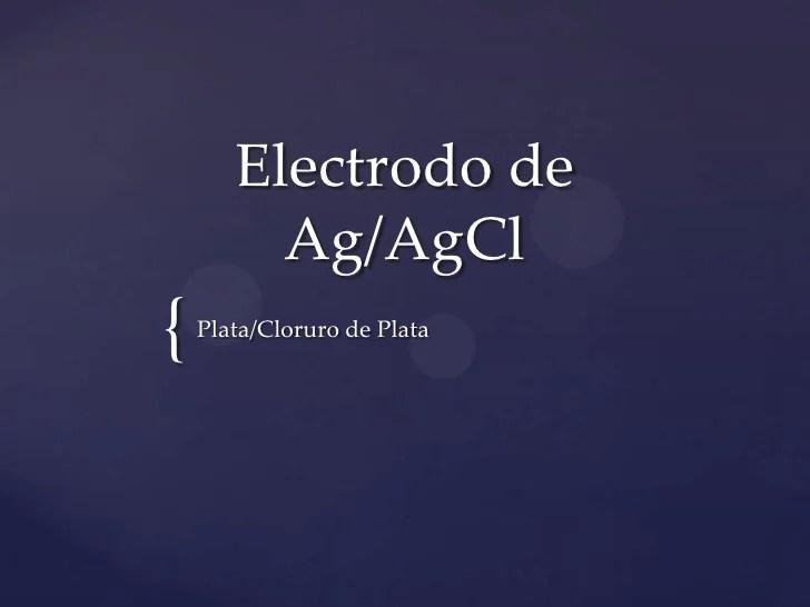 Electrodo de ag ag cl