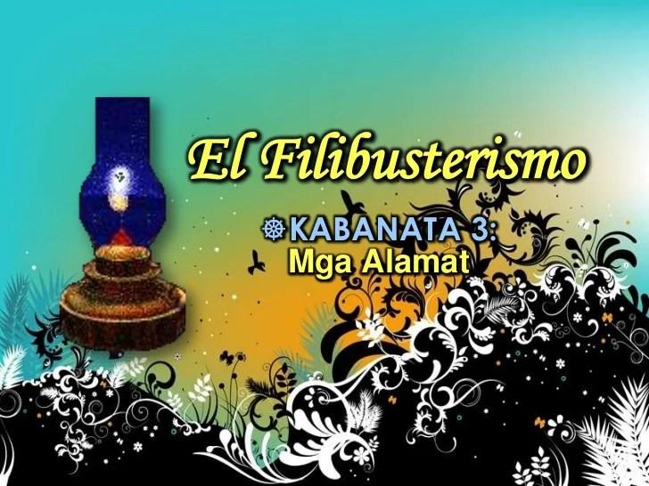 Filibusterismo 35 Mga El Sa Ng Kabanata Tauhan