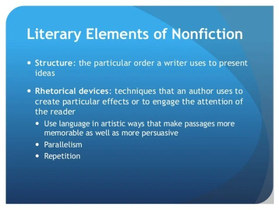 Eli eng125 intro to non fiction     indirectly  29  Literary Elements of Nonfiction