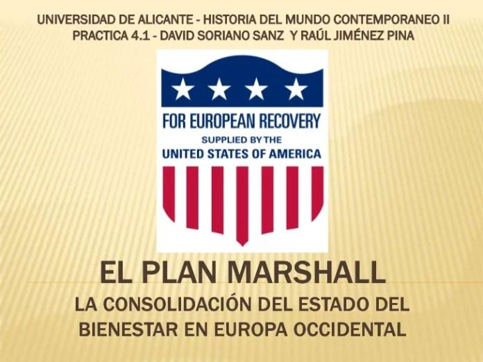 Resultado de imagen para Fotos del Plan Marshall