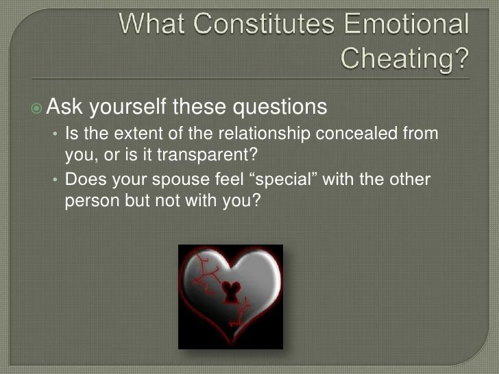 How to deal with emotional cheating
