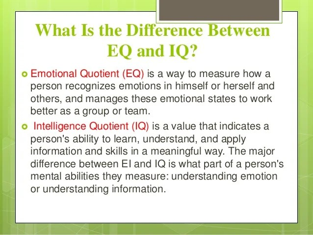 the concept of emotional intelligence essay Emotional intelligence is an intelligence that has to do with discerning and understanding emotional information to be sure, an intellectual understanding of emotional intelligence is very important, but ultimately, the development of it depends on sensory, non-verbal learning and much practice.