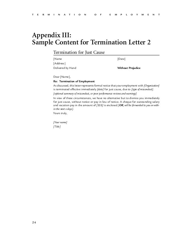How To Write A Letter Of Termination Employment By Employee The