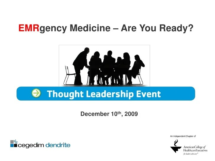 EMRgecy Medicine: The Impact of EMR/EHR on Healthcare ...