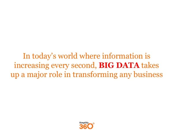 In today's world where information