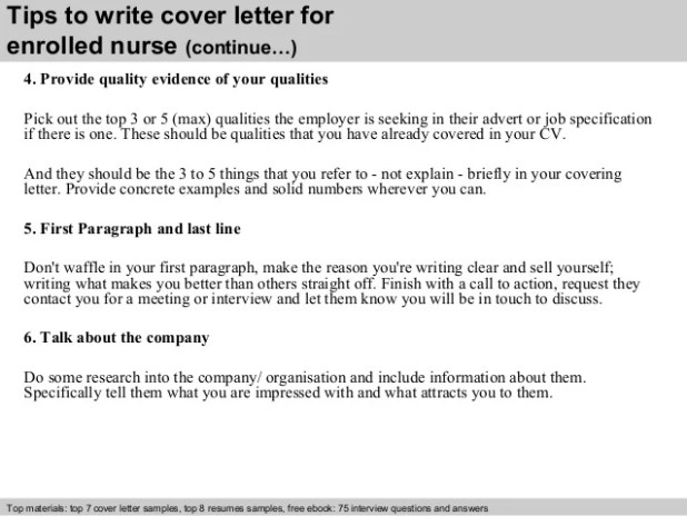 Example of application letter for staff nurse howtoviews enrolled nurse cover letter spiritdancerdesigns Gallery