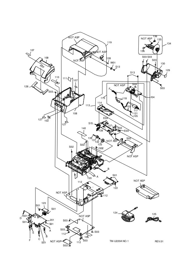 Diagrama Epson TMU220A